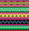 Aztec tribal seamless pattern with monsters vector image vector image