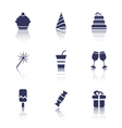 Party Icons of Holiday and Birthday Objects vector image vector image