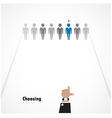Boss choosing the perfect businessman vector image