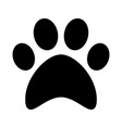 cat paw print flat icon symbol vector image