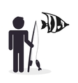 Fishing design fisherman icon isolated vector image