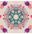 Flowers seamless round pattern decorative vector image