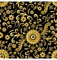 Golden Floral Seamless Background vector image