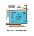 product development concept vector image