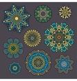 Set of ornamental Floral elements for design vector image