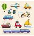 transport set vector image