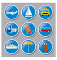 set of icons travel concept vector image vector image