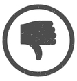 Thumb Down Icon Rubber Stamp vector image