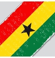 Ghana grunge flag vector image
