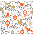 Christmas retro pattern vector image
