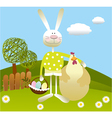 Cartoon Easter background vector image vector image