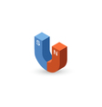 isometric of magnet icon vector image