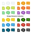 Set of flat design icons and speech bubbles vector image