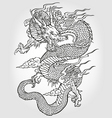 asian dragon illustration vector image vector image