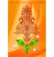 Goddess Durga against Watercolor Background vector image vector image