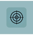 Pale blue aim icon vector image