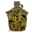 Military canteen vector image