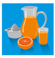 fresh grapefruit juice vector image vector image