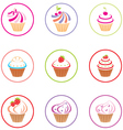 Cupcakes set vector image vector image