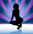 stripper silhouette vector image vector image