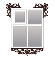 Window with carvedarchitraves vector image vector image