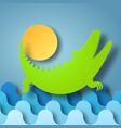 box of shadow crocodile plays vector image