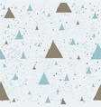 cute pattern with golden triangles with pastel vector image