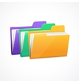 File Folders Set vector image