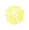 Lettering element in yellow color vector image