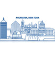 usa new york rochester winter city skyline vector image