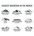 Mountain tourist logos set Posters vector image