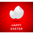 Origami happy easter card with eggs vector image vector image