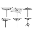 Rotary washing line silhouettes vector image vector image