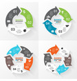 circle arrows infographics set Template vector image vector image