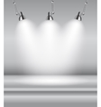 Background with Lighting Lamp Empty Space for vector image