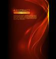 abstract smoke wavy orange background vector image