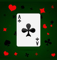 ace of clubs playing card vector image