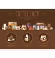 Coffee Shop Flat vector image