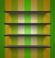 Empty black shelves vector image