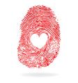 fingpr heart red vector image