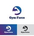 minimalistic gradient gym logo Fitness vector image