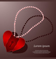 pendant in the form of heart vector image