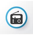 radio icon symbol premium quality isolated tuner vector image