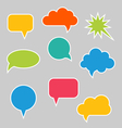 Set of Multicolored Speech Bubbles vector image