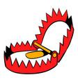 sharp metal trap icon icon cartoon vector image