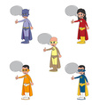 superhero cartoon theme vector image