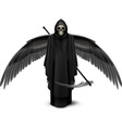 Two-winged angel of death vector image