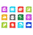 modes of photo silhouette icons vector image