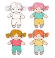 dolls vector image