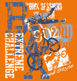 BMX Extreme challenge vector image vector image